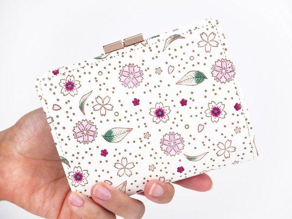 画像4: 桜散らし 箱まち口金付き札入れ