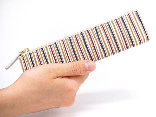 画像4: 矢鱈縞<あずき> 三角マチのペンケース