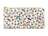 枝垂れ花鳥 L字ファスナーの長財布[n]