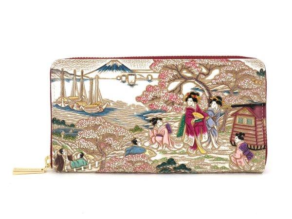 画像1: 浮世絵 御殿山(ごてんやま) ぐるっとファスナーの長財布[n][t]
