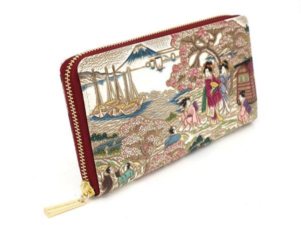 画像2: 浮世絵 御殿山(ごてんやま) ぐるっとファスナーの長財布[n][t]