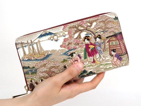 画像4: 浮世絵 御殿山(ごてんやま) ぐるっとファスナーの長財布[n][t]