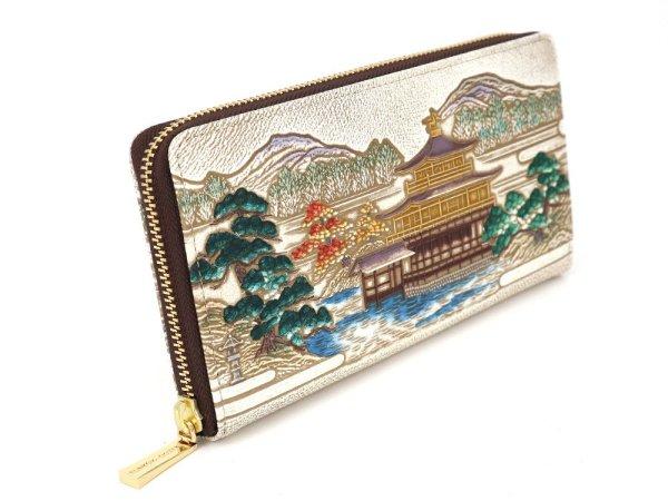 画像2: 浮世絵 金閣寺 ぐるっとファスナーの長財布[n][t]