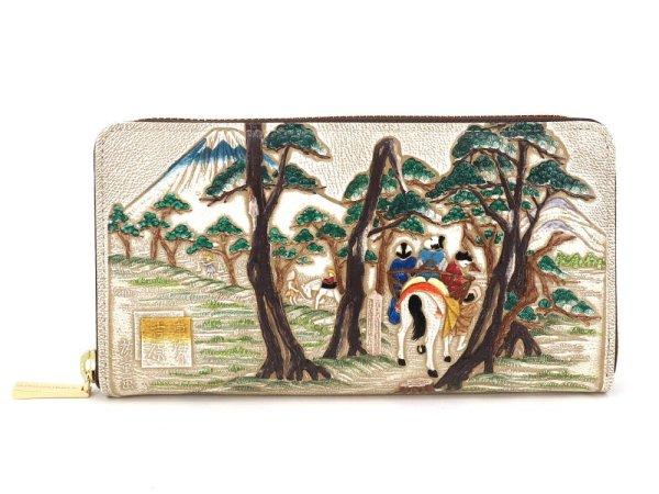 画像1: 浮世絵 吉原(よしわら) ぐるっとファスナーの長財布[n][t]
