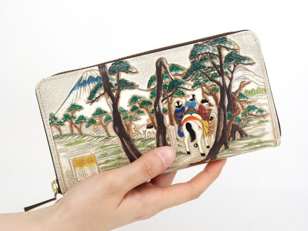 画像4: 浮世絵 吉原(よしわら) ぐるっとファスナーの長財布[n][t]