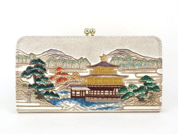 画像1: 浮世絵 金閣寺 がま口長財布[n][t]