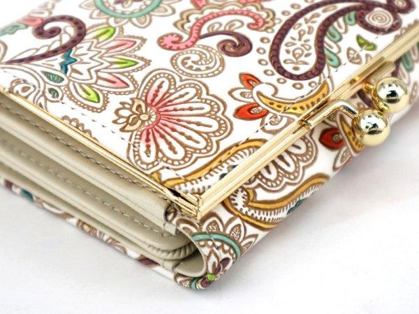 画像4: ペイズリー 三つ折りミニ財布[n][t]