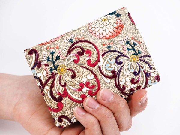 画像4: 乱菊<赤紫> 箱まち小銭入れ