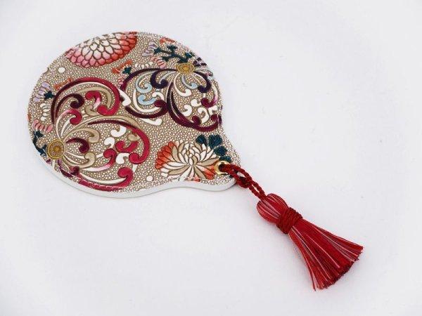 画像1: 乱菊<赤紫> 手鏡[n]