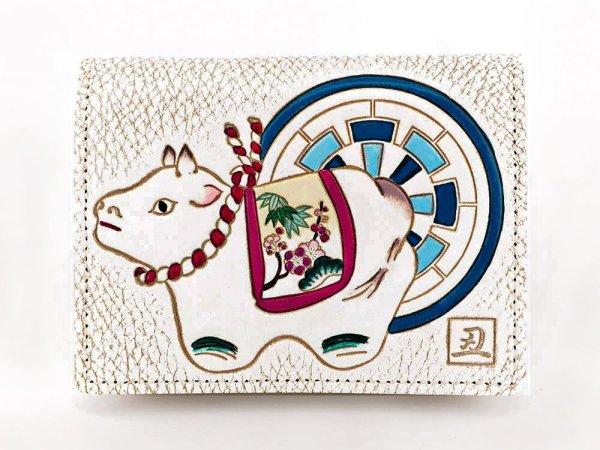 画像1: 【干支財布】源氏丑 箱まち小銭入れ