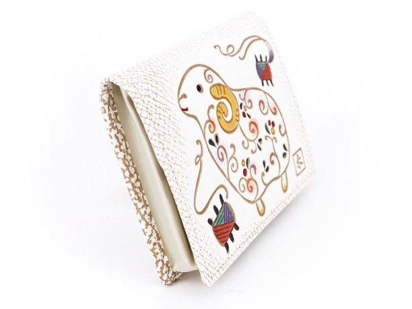 画像2: 【干支財布】からくさ羊 箱まち小銭入れ