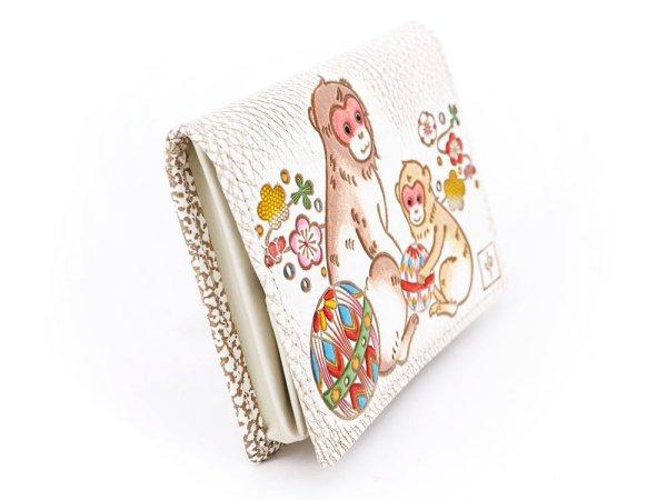 画像2: 【干支財布】さる手毬 箱まち小銭入れ