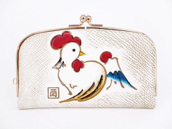画像1: 【干支財布】さいさき鳥 天溝がま口[n]
