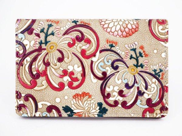 画像1: 乱菊<赤紫> パスカードホルダー