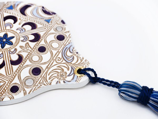 画像3: 錦紗<紫> 手鏡[n][t]