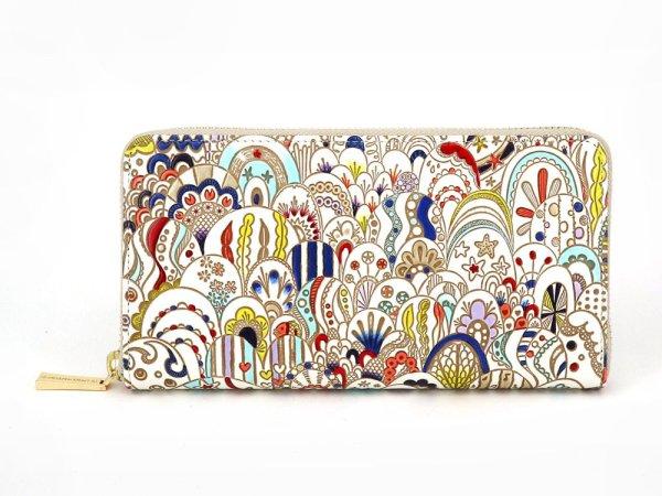 画像1: 貝がらの夢 ぐるっとファスナーの長財布[n]