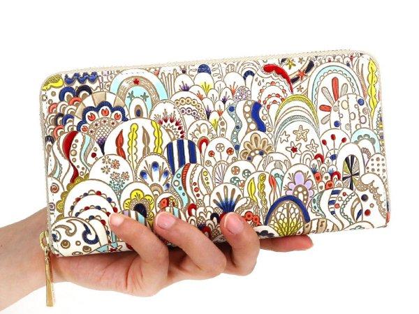画像4: 貝がらの夢 ぐるっとファスナーの長財布[n]