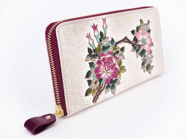 画像2: 薔薇 ぐるっとファスナーの長財布