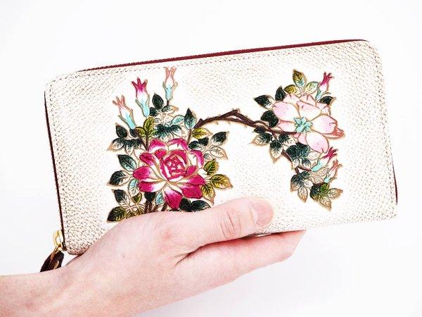 画像4: 薔薇 ぐるっとファスナーの長財布