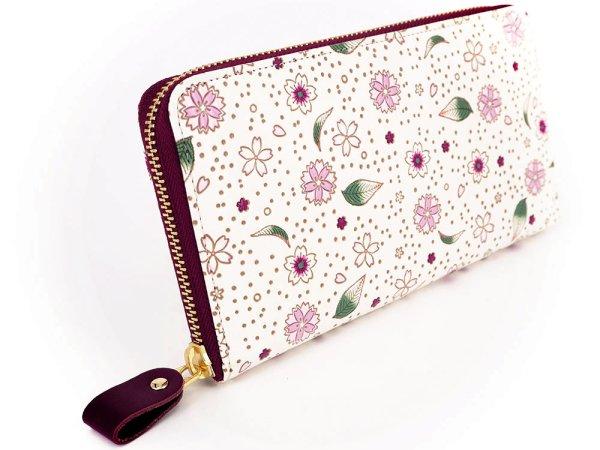 画像2: 桜散らし ぐるっとファスナーの長財布