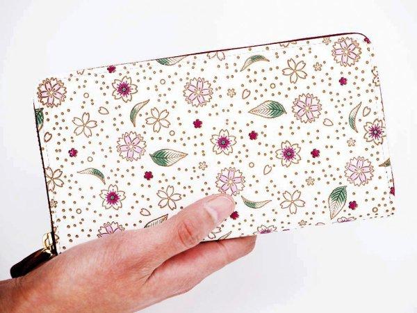画像4: 桜散らし ぐるっとファスナーの長財布