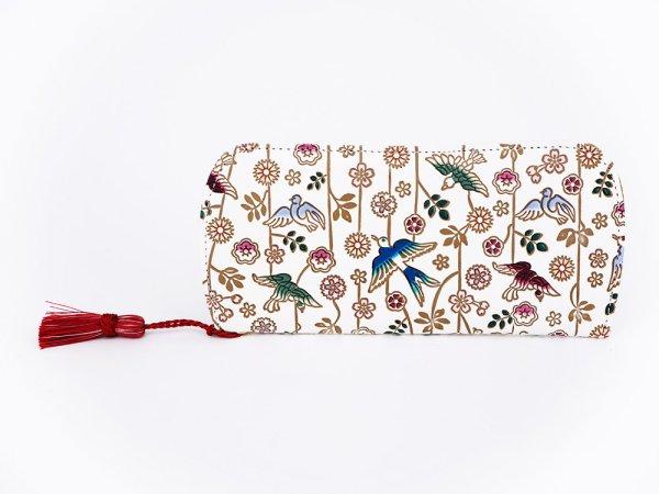 画像1: 枝垂れ花鳥 メガネケース