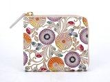 【ネット限定】更紗菊  L字ファスナーの小さなお財布