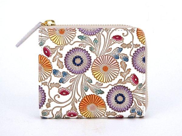 画像1: 【ネット限定】更紗菊  L字ファスナーの小さなお財布