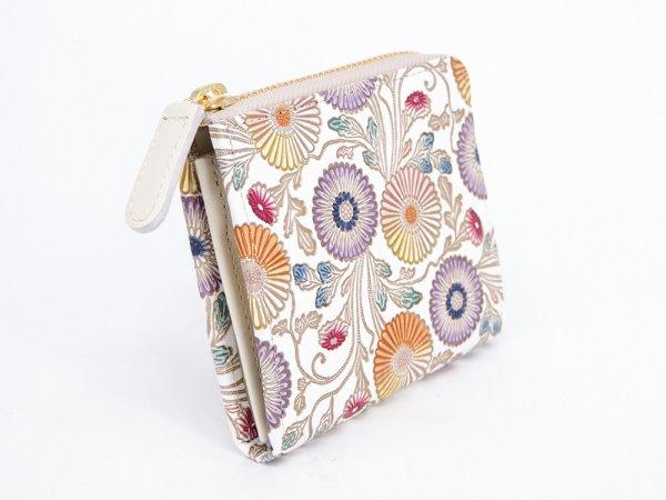 画像2: 【ネット限定】更紗菊  L字ファスナーの小さなお財布