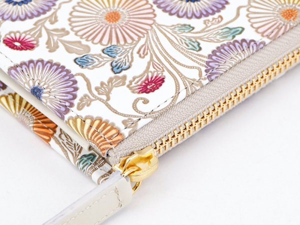 画像3: 【ネット限定】更紗菊  L字ファスナーの小さなお財布