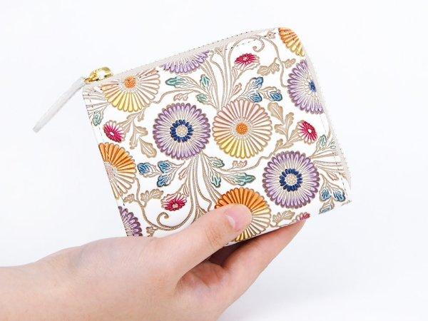 画像4: 【ネット限定】更紗菊  L字ファスナーの小さなお財布