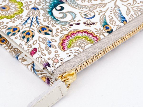 画像3: 【ネット限定】孔雀  L字ファスナーの小さなお財布