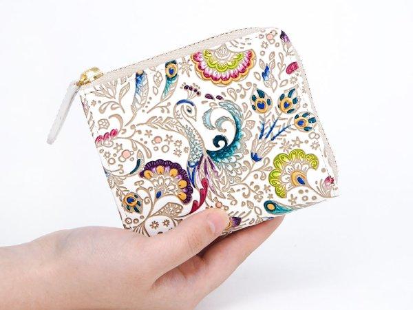 画像4: 【ネット限定】孔雀  L字ファスナーの小さなお財布