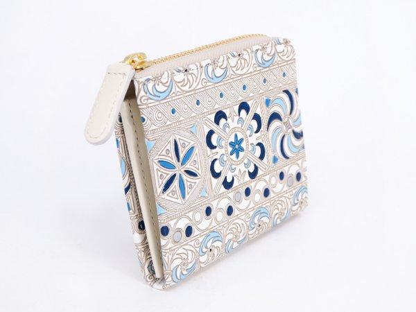 画像2: 【ネット限定】錦紗<青> L字ファスナーの小さなお財布