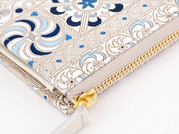 画像3: 【ネット限定】錦紗<青> L字ファスナーの小さなお財布