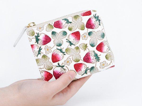 画像4: 【ネット限定】いちご  L字ファスナーの小さなお財布