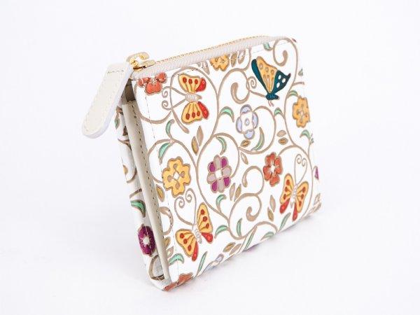 画像2: 【ネット限定】金唐大花 L字ファスナーの小さなお財布