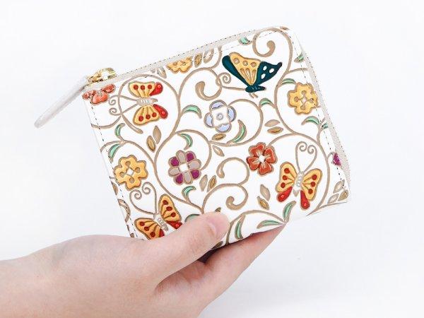画像4: 【ネット限定】金唐大花 L字ファスナーの小さなお財布