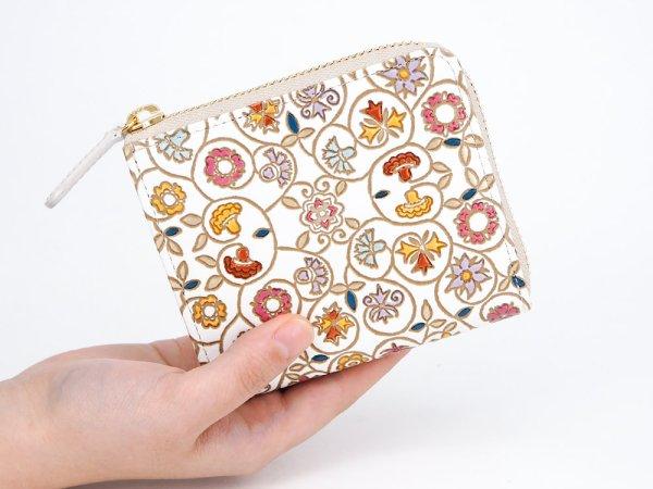 画像4: 【9月下旬頃お届け予定 予約会】金唐柄  L字ファスナーの小さなお財布